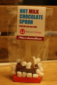 Branded chocolate spoons